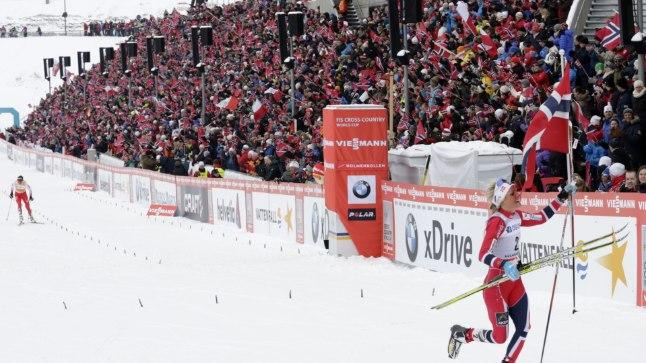 Holmenkolleni publik on sportlastele meeltmööda.