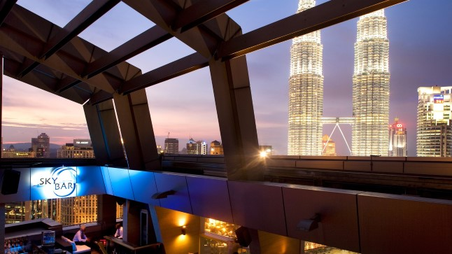 Trader'si hotelli katusebaar Kuala Lumpuris.