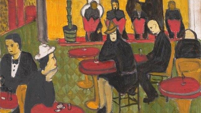 Endel Kõks, Kohvikus 1940, õli, Tartu kunstimuuseum