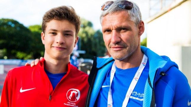 Robin Nool koos isa Erkiga.