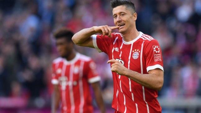 Müncheni Bayerni väravakütt Robert Lewandowski.