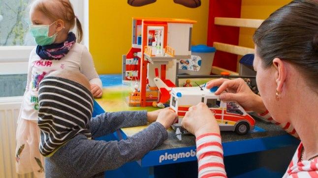 Vähihaigete laste mängu- ja füsioteraapiatuba Tartu Ülikooli Kliinikumis.