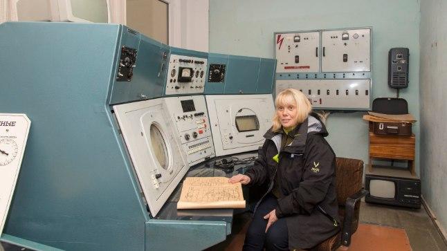 Radarijaamas joonistati kujutis ekraanilt käsitsi maha, näitab Külli Loodla.