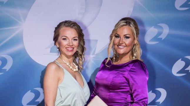 UUS VÄLIMUS: Lauljatar Sünne Valtri (paremal) näitas Kanal 2 sünnipäevapeol varasemas kõvasti saledamat välimust. Naine tunnistab, et on 13 kuu jooksul seljast visanud 38 üleliigset kilo.