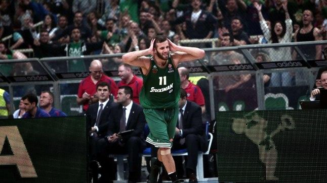 Panathinaikosele võidu toonud Nikos Pappas.