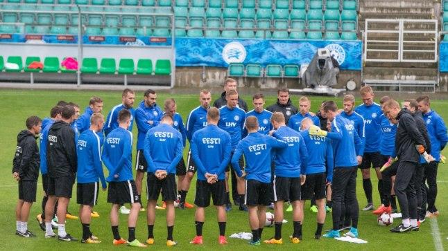 Eesti koondise treeningul