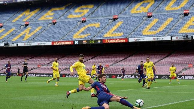 Barcelona viimane kodumäng toimus tühjade tribüünide ees.