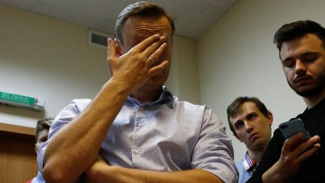 Aleksei Navalnõi 2. oktoobril Moskva kohtumajas