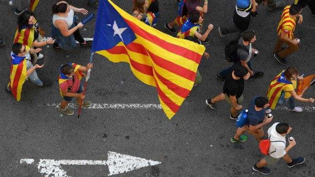 Kataloonlased meeleavaldusel.