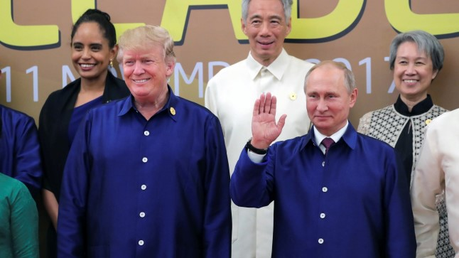 USA presidendi Donald Trumpi (vasakul) ja Venemaa presidendi Vladimir Putini esmakordne kohtumine leidis aset 10. novembril Vietnamis Danangis Aasia ja Vaikse Ookeani Majanduskoostöö tippkohtumisel.