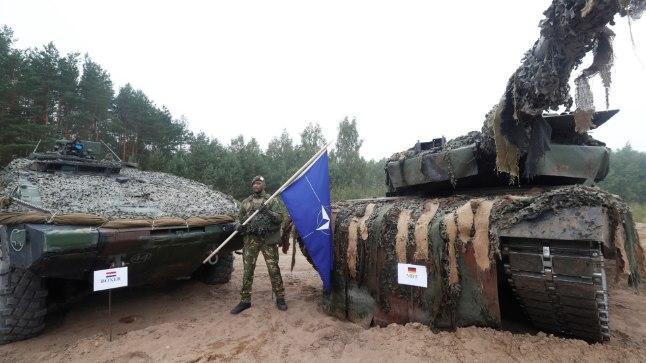 Hollandi sõdur Leedus õppustel.