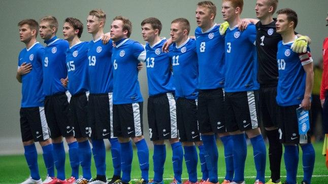 Eesti U21 jalgpallikoondis. Pilt on illustratiivne.