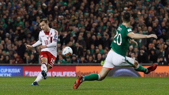 Christian Eriksen lõi Iirimaa võrku kolm ilusat väravat.
