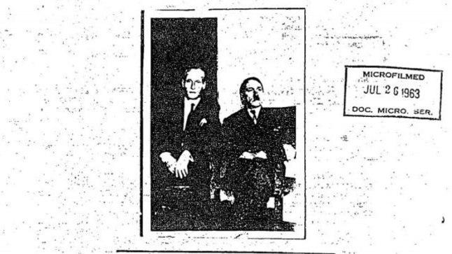 KAS TÕESTI HITLER? CIA toimikust pärineval 1954. aastal Colombias tehtud fotol on agent Cimelody-3 andmetel SS-Sturmbannführer Philipp Citroen ja Adolf Schüttelmayeri nime all elanud Adolf Hitler.