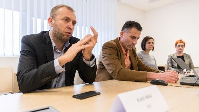 Riigi Infosüsteemi Ameti intsidentide käsitlemise osakonna juhataja Klaid Mägi, Andreas Lehmann (Trüb Baltic AS) ja Margit Ratnik (PPA)