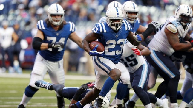 Tennessee Titans vs Indianapolis Colts.