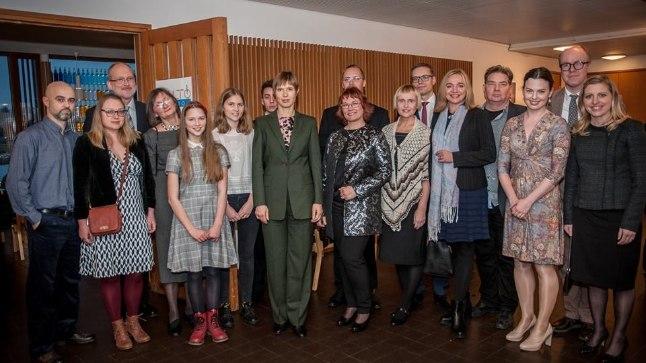 """KOHALIKEGA: """"Tore, et Eestist väljapool elab nii palju aktiivseid kaasmaalasi,"""" sõnas president Kaljulaid."""