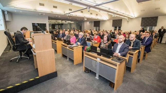 Tallinna linna uue volikogu esimene istung 9. novembril 2017.