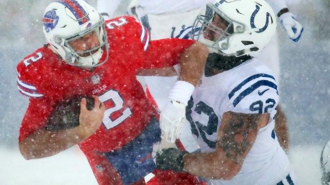 Indianapolis Colts vs Buffalo Bills. Margus Hunt (92).