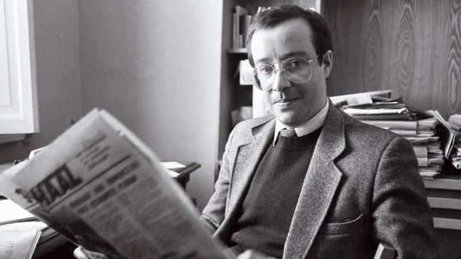 Raadio Vaba Euroopa eesti osakonna direktor Toomas Hendrik Ilves Tartus 1990