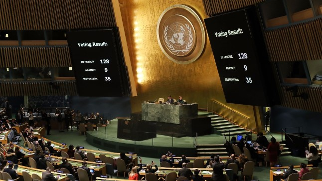 Jeruusalemma-resolutsiooni hääletus ÜROs