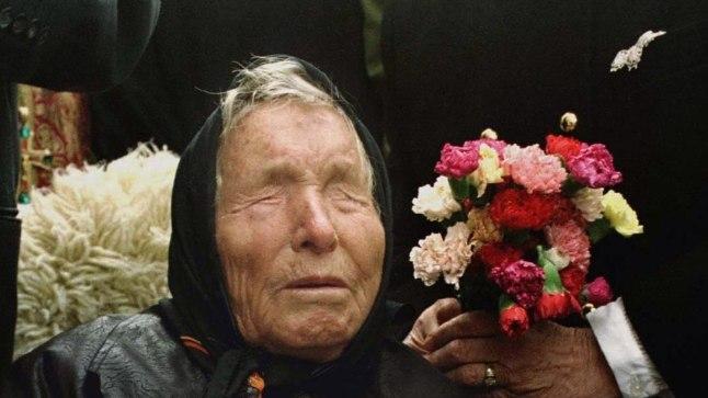 Selgeltnägija Baba Vanga ehk Vangelija Pandeva Dimitrova oktoobris 1994.