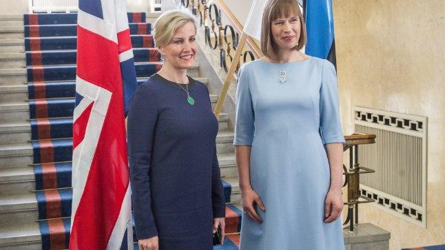 TÄHTIS KÜLALINE: Ühendkuningriigi Wessexi krahvinna Sophie Helen Mountbatten-Windsor kohtus president Kersti Kaljulaidiga