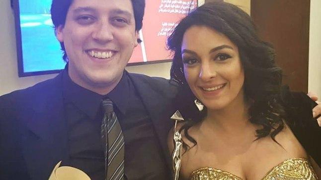 Lühifilmi brasiillasest stsenarist Lucas Abrahão ja jordaanlannast peaosatäitja Sameera Asir eelmisel nädalal 39. Kairo rahvusvahelise filmifestivali lõputseremoonial.