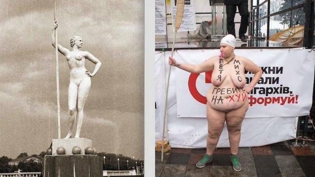 Mõlaga protestija Kiievis