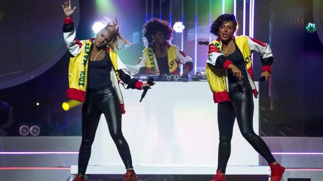 RASSISTLIK? Lauljatar Getter Jaani astus näosaate finaalis lavale koos Hanna Martinsoniga, et kehastada räpipunti Salt'N'Pepa. Üllatuslikult hakkas Jaani saama aga rassistlikke kommentaare.