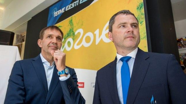 Eesti Olümpiakomitee president Urmas Sõõrumaa (vasakul) ja peasekretär Siim Sukles.