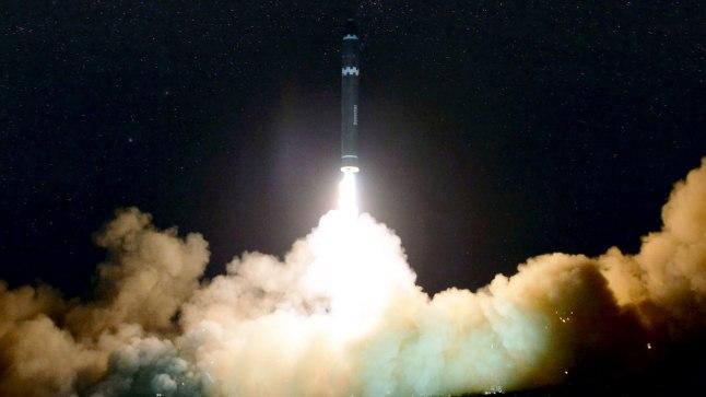 Põhja-Korea katsetas 29. novembril mandritevahelist raketti Hwasong-15.