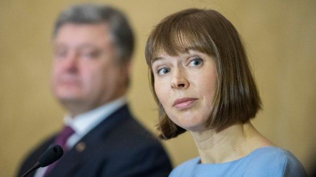 Kersti Kaljulaid, taamal Ukraina president Petro Porošenko.
