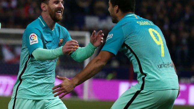Mõistagi olid Barcelona särgis täpsed nii Lionel Messi (vasakul) kui Luis Suarez.