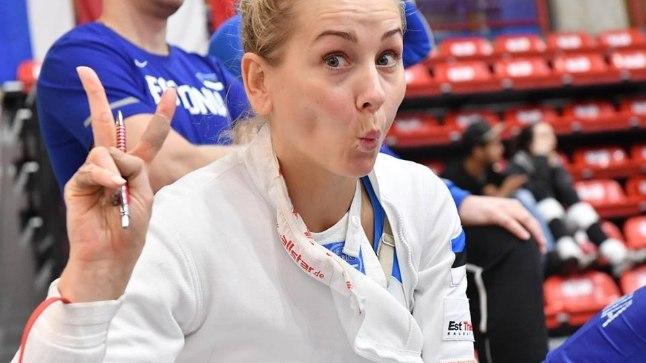 Eesti naiskond Legnano MK-etapil, pildil Kristina Kuusk