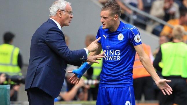 Leicesteri peatreener Claudio Ranieri ja ka Inglismaa koondisesse kuuluv ründaja Jamie Vardy.