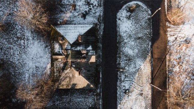 Droonifotod Tallinna Kopli Liinidest 14. veebruaril 2017.