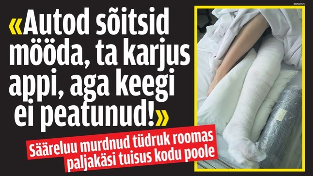 <font color=&quot;#d30008&quot;>USKUMATU HOOLIMATUS!</font> Sääreluu murdnud tüdruk roomas paljakäsi tuisus ja külmas ko