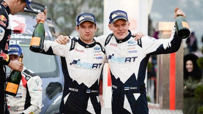 Martin Järveoja ja Ott Tänak alustasid hooaega Monte Carlo ralli raske kolmanda kohaga.