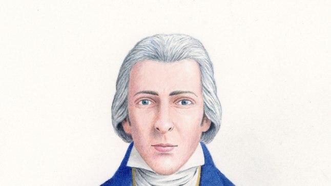 Nick Hardcastle'i loodud ajalooliselt korrektne portree Fitzwilliam Darcyst.