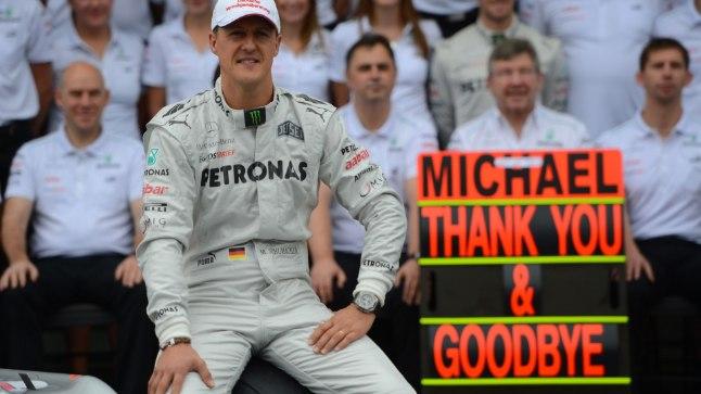 Michael Schumacher 2012. aastal Mercedese vormis.