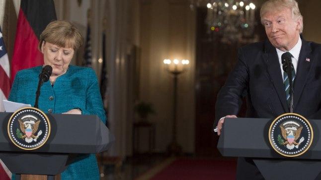Saksamaa liidukantsler Angela Merkeli kohtumine USA presidendi Donald Trumpiga Washingtonis 17. märtsil 2017.