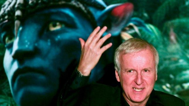 "James Cameron Sao Paulos ""Avatari"" esilinastusel."