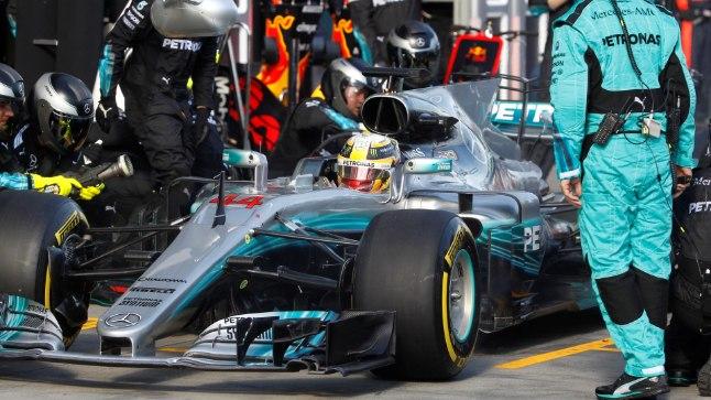 Lewis Hamilton boksis.