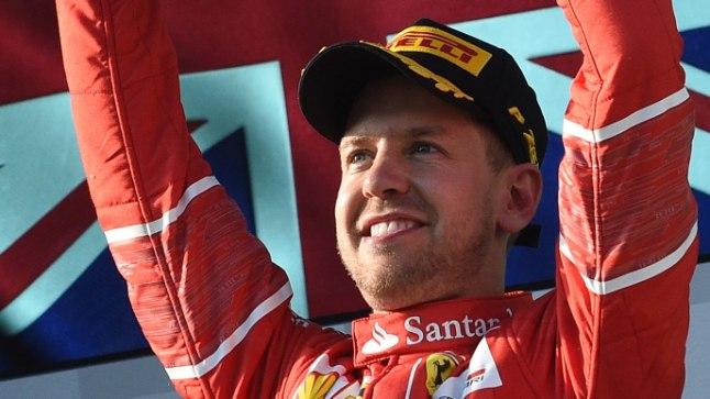 Austraalia GP võitja Sebastian Vettel (Ferrari).