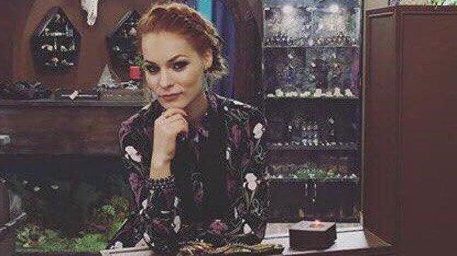 Мерилин в своем московском магазине