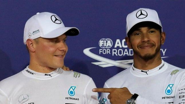 Lewis Hamilton (vasakul) ja Valtteri Bottas