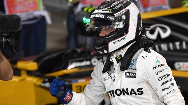 Valtteri Bottas pärast kvalifikatsiooni võitmist.