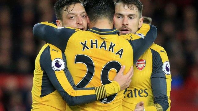 Arsenali mängijad said võitu tähistada