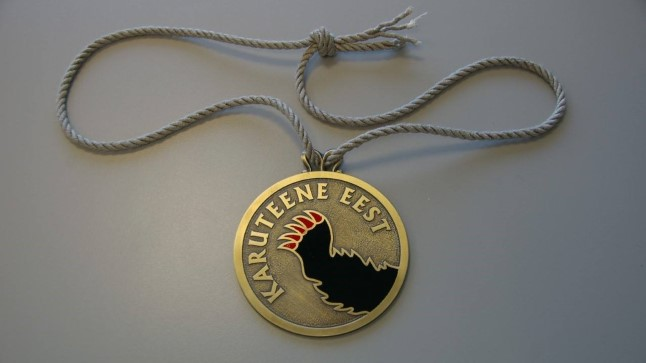 Karuteene medali asutas Eesti Muinsuskaitse Selts 1997. aastal
